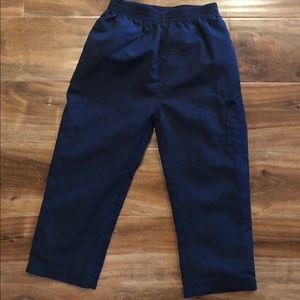 Boys navy blue jogger/wind breaker pants size 4